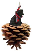 Shar Pei Black Pinecone Pet Ornament