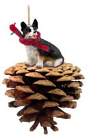 Welsh Corgi Cardigan Pinecone Pet Ornament
