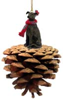 Greyhound Brindle Pinecone Pet Ornament