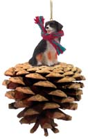 Bernese Mountain Dog Pinecone Pet Ornament