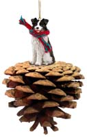 Border Collie Pinecone Pet Ornament
