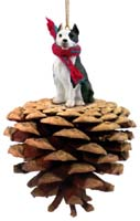 Pit Bull Terrier Brindle Pinecone Pet Ornament