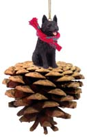 Schipperke Pinecone Pet Ornament
