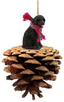Portuguese Water Dog Pinecone Pet Ornament