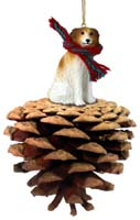 Borzoi Pinecone Pet Ornament