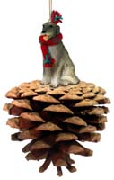 Irish Wolfhound Pinecone Pet Ornament