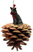 Australian Cattle Blue Dog Pinecone Pet Ornament