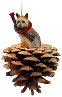 Silky Terrier Pinecone Pet Ornament