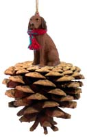 Vizsla Pinecone Pet Ornament