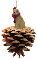 Soft Coated Wheaten Terrier Pinecone Pet Ornament