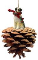 Australian Shepherd Blue w/Docked Pinecone Pet Ornament