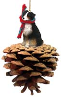 Australian Shepherd Tricolor Pinecone Pet Ornament
