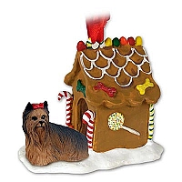 Yorkshire Terrier Ginger Bread House Ornament