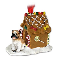 Bulldog Ginger Bread House Ornament