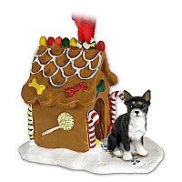 Chihuahua Black & White Ginger Bread House Ornament
