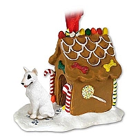 Bull Terrier Ginger Bread House Ornament
