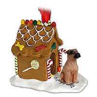 Boxer Tawny w/Uncropped Ears Ginger Bread House Ornament