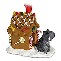 Kerry Blue Terrier Ginger Bread House Ornament