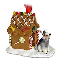 Bedlington Terrier Ginger Bread House Ornament