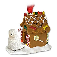 Komondor Ginger Bread House Ornament