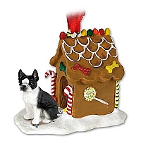 Boston Terrier Ginger Bread House Ornament