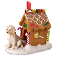 Labradoodle Cream Ginger Bread House Ornament