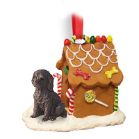 Labradoodle Chocolate Ginger Bread House Ornament
