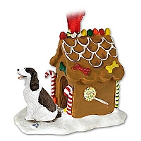 Springer Spaniel Liver & White Ginger Bread House Ornament