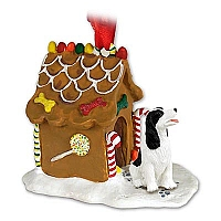 Springer Spaniel Black & White Ginger Bread House Ornament