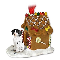 Brittany Liver & White Spaniel Ginger Bread House Ornament