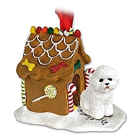 Bichon Frise Ginger Bread House Ornament