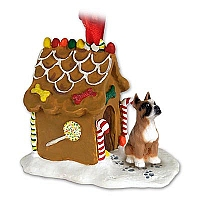 Boxer Ginger Bread House Ornament