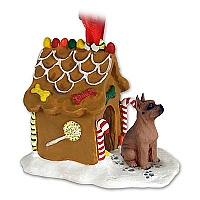 Boxer Tawny Ginger Bread House Ornament