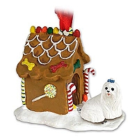 Maltese Ginger Bread House Ornament