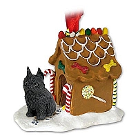 Brussels Griffon Black Ginger Bread House Ornament
