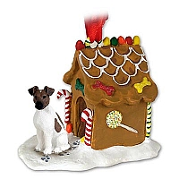 Fox Terrier Brown & White Ginger Bread House Ornament
