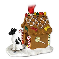 Fox Terrier Black & White Ginger Bread House Ornament