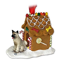 Akita Gray Ginger Bread House Ornament