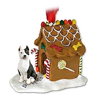 Pit Bull Terrier Brindle Ginger Bread House Ornament