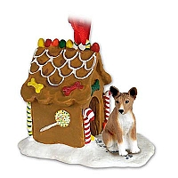 Basenji Ginger Bread House Ornament