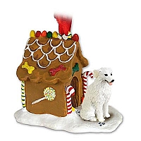 Kuvasz Ginger Bread House Ornament