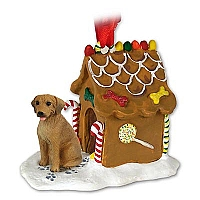 Rhodesian Ridgeback Ginger Bread House Ornament