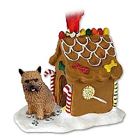 Norwich Terrier Ginger Bread House Ornament