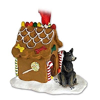 Australian Cattle BlueDog Ginger Bread House Ornament