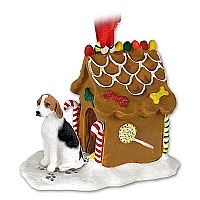 American Fox Hound Ginger Bread House Ornament