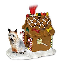 Silky Terrier Ginger Bread House Ornament