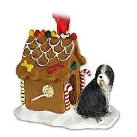 Bearded Collie Ginger Bread House Ornament