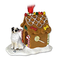 Australian Shepherd Blue Ginger Bread House Ornament