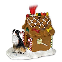 Australian Shepherd Tricolor Ginger Bread House Ornament