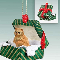Red Persian Gift Box Green Ornament